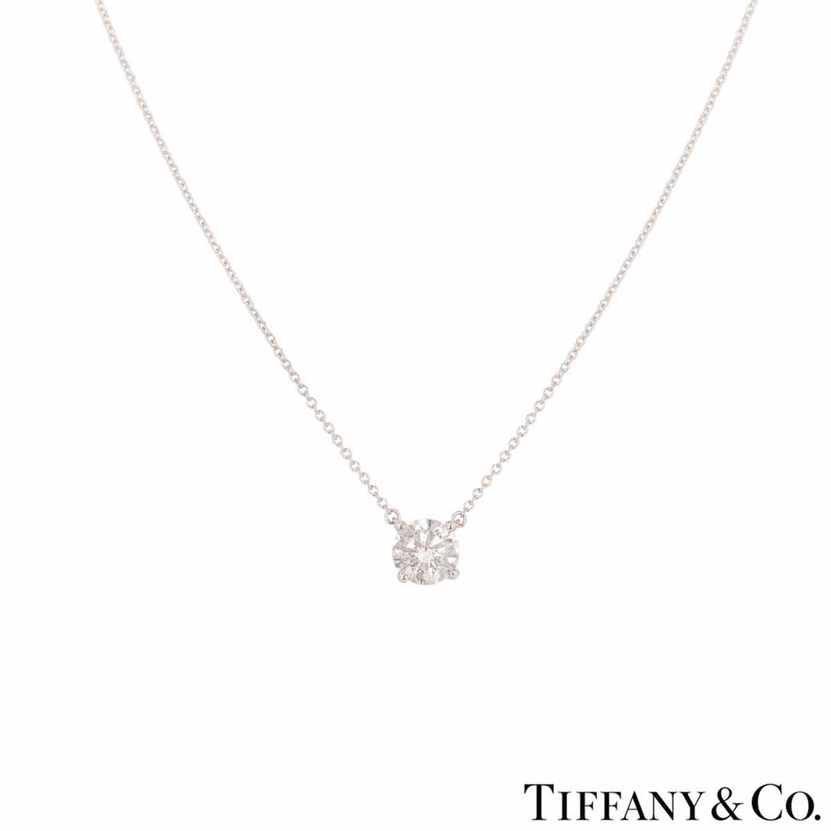 Tiffany & Co. Platinum Diamond Pendant 1.45ct F/VVS2 XXX